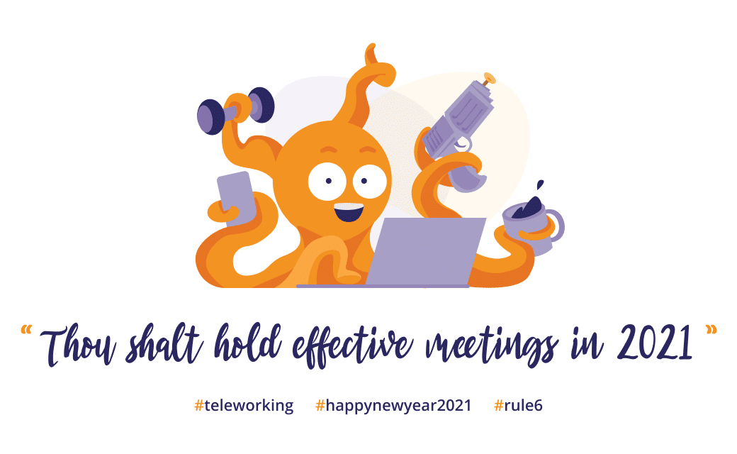Image : teleworking survival kit 2021 - Thou shalt hold effective meetings in 2021